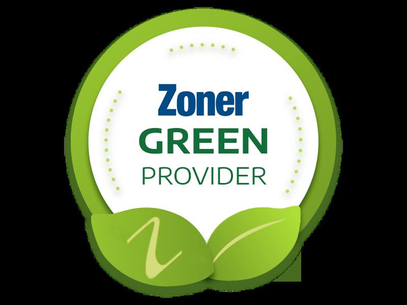 Zoner je Green provider